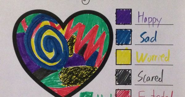 Color your feelings this activity encourages feeling for Emotion art projects