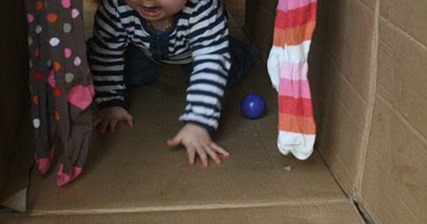 Baby Sensory Play: Cardboard Box Play Tunnel - The Imagination Tree