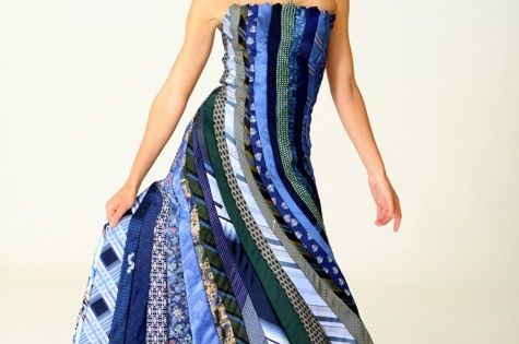 Fashion and Art Trend: Cool Necktie Dress... Neat!!!
