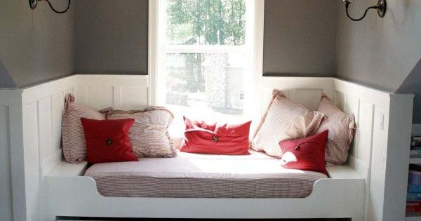 Level up a window seat by adding a trundle bed. | 43