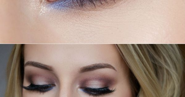 Gorgeous makeup look with a subtle pop of blue   thebeautyspotqld.com.au