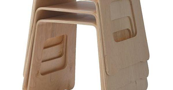 Ikea Benjamin Stackable Bent Ply Stool Tiny Houses