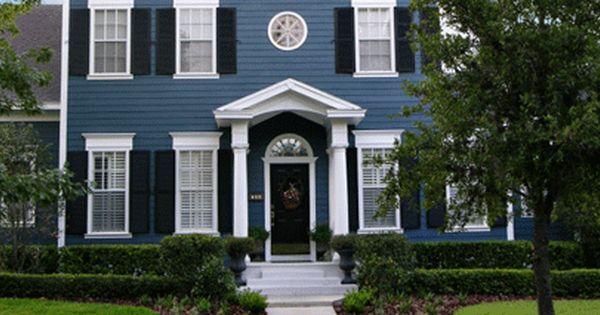 Blue Vinyl Siding House Exterior Blue Exterior Paint Colors For House House Paint Exterior