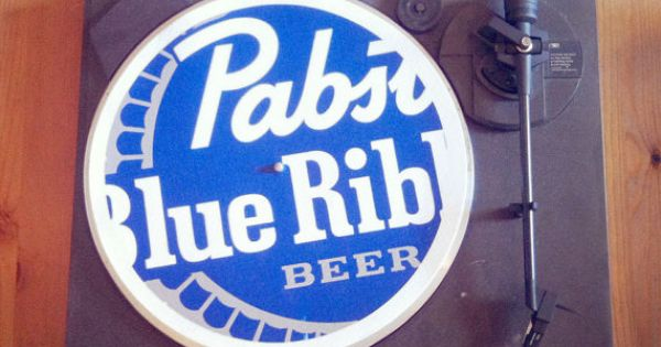 Pbr Pabst Blue Ribbon Beer Turntable Slip Mat Pad