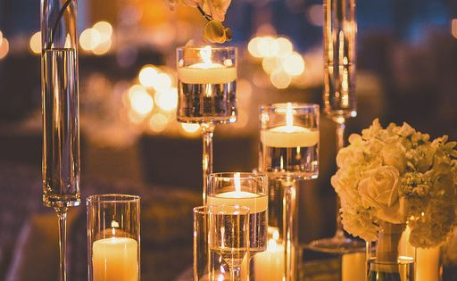 Photo michael moss photography wedding centerpiece idea
