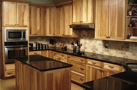 Beautiful hickory kitchens features custom chef s for Beautiful custom kitchen cabinets