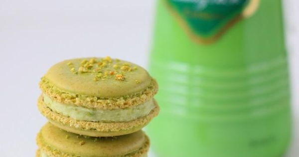 Pistachio - Cocoa Nib Macarons With Bourbon Buttercream Recipe ...