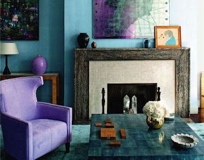 David Collins fireplace- crystals