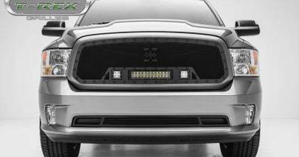 T Rex Dodge Ram 1500 Torch Series Led Light Grille Single 2 3 Led Cubes 1 12 Light Bar For Off Road Use Only P Dodge Ram 1500 Ram 1500 Dodge Trucks Ram