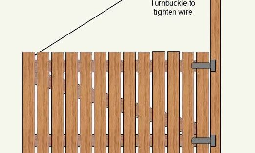 Wooden Gates Doors With Wire Cable How To Make A Wood