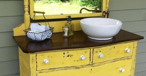 Bathroom Sink Cabinets Bathroom Sinks And Old Dressers On Pinterest