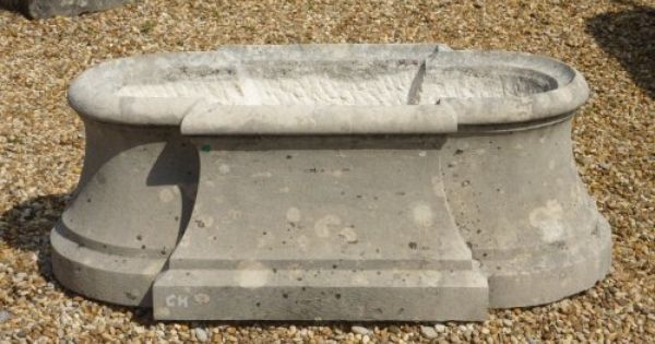Fontaine de bassin en fonte, fin XIXe | Jardiniere en pierre