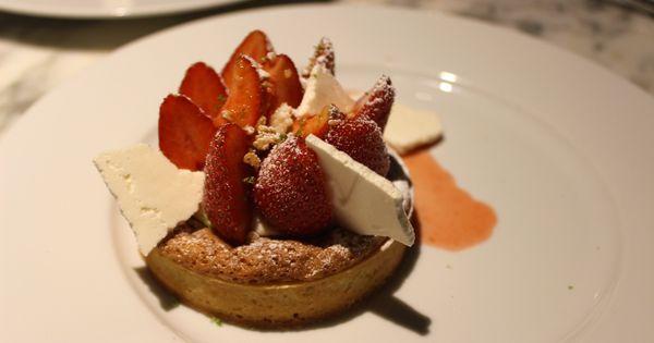 Strawberry Tart, Hazelnut Shortbread Biscuits, Lime (Tartelette ...