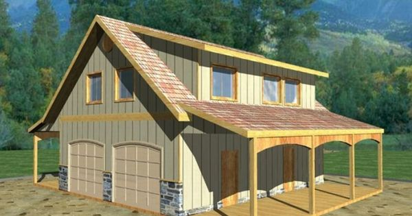 Detached garage with bonus room plans barn inspired 4 for Detached garage with bonus room plans