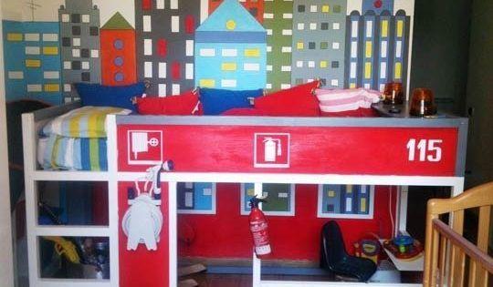 lit pompier ikea lit superpos customis lit cabane pinterest lit pompier pompiers et. Black Bedroom Furniture Sets. Home Design Ideas