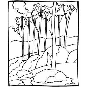 Forest Coloring Page Forest Coloring Pages Colouring Pages Black And White Landscape