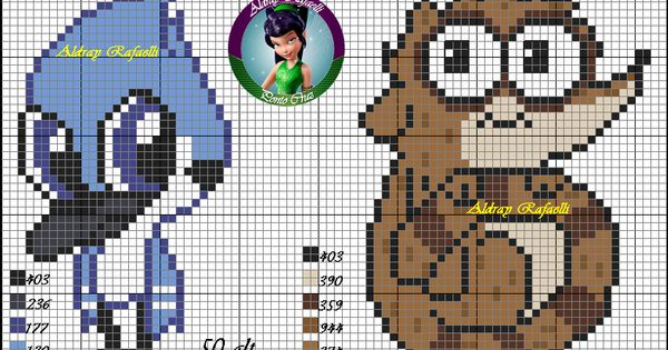 Mordecai and Rigby - Regular Show pattern by Aldray ... Minecraft Pixel Art Regular Show
