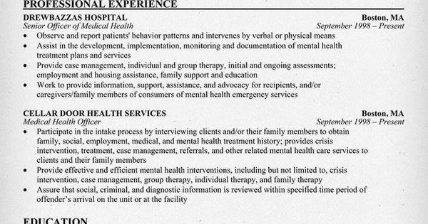 Medical Health Officer Resume Sample (http://resumecompanion.com) #health #jobs
