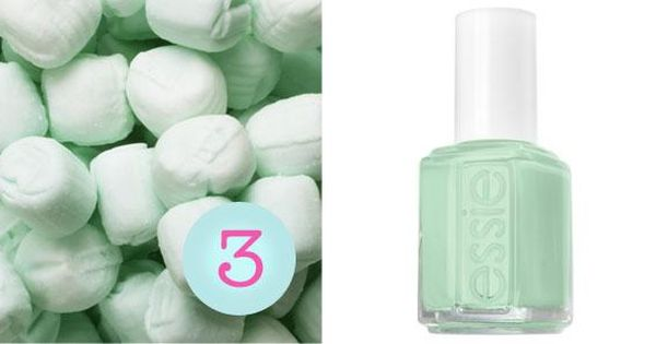 Mint Candy Apple: Essie nail polish - my favorite nail polish color