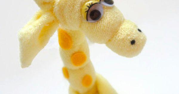 Washcloth Giraffe Washcloth Souveniers Pinterest