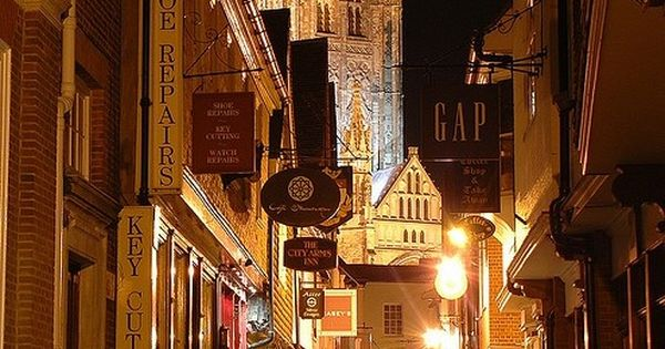Old town, Late Night, Canterbury, England