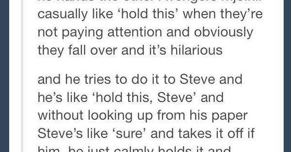 I love how everyone has suddenly become aware that Steve is worthy