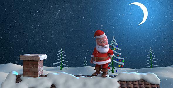 Christmas Santa Animated Christmas Card Christmas Cards Free Christmas Card Template