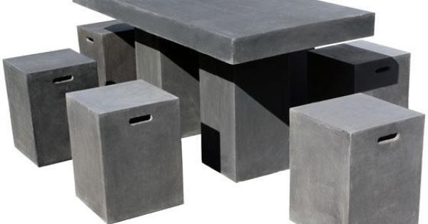 Lightweight Concrete Outdoor Furniture Home Design Thoughts Pinterest Concrete Outdoor