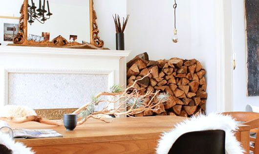 interior design decor wood firewood lumber rustic inspiration home