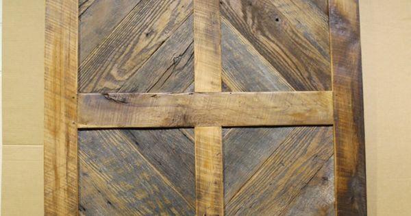 Sliding Barn Door Antique Reclaimed Wood Diamond