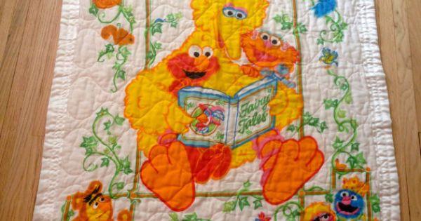 Sesame Street Baby Blanket By Lishyloo On Etsy 10 00