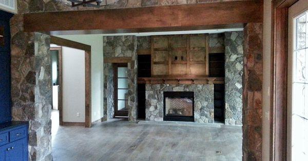 natural stone, gas fireplace, stone veneer, interior ...