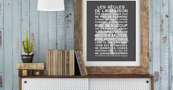 Double affiche r gles de la maison et little boy r gles de la maison pinterest diy - Affiche regle de la maison ...