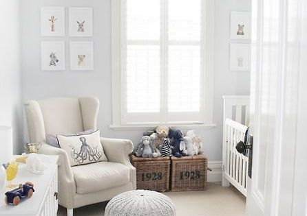Love this nursery - Grey with pops of yellow
