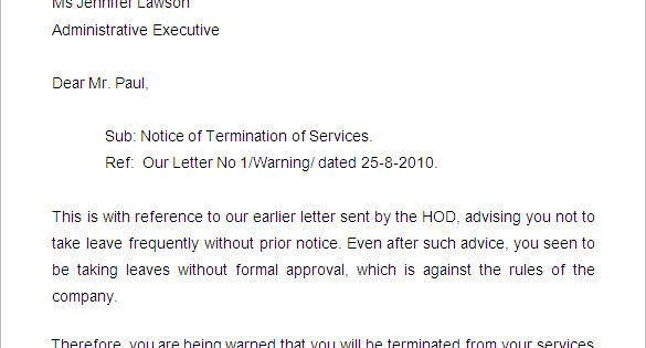 free termination letter template sample example format for leave - sample software license agreement