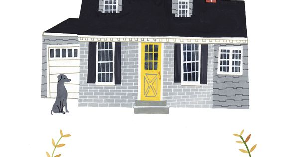 I have been wanting a custom house drawing from Rebekka Seale for
