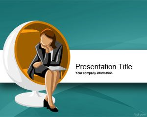 Executive Woman Scholarship Powerpoint Template Is A Free