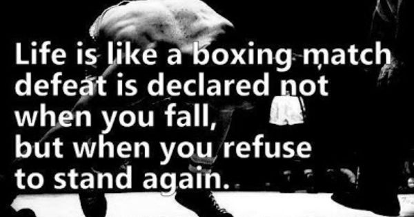 Inspirational Boxing Quote