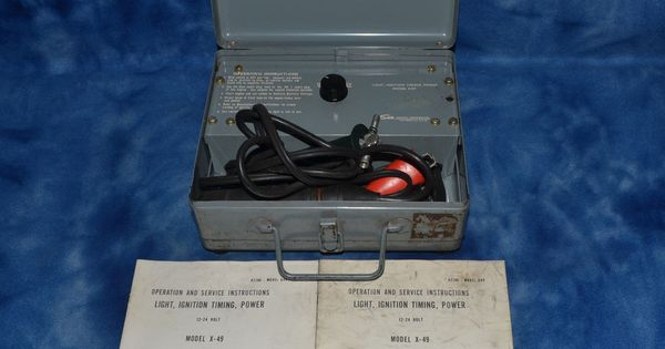 Vintage Military Issue Sun Electric Timing Light 12 24 Vdc Case Papers Sunelectriccorporation Vintage Military Ignition Timing Crystal Lake