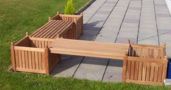 l shape benches with planters planter boxes pinterest. Black Bedroom Furniture Sets. Home Design Ideas