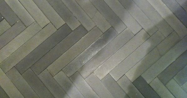 Chevron Grey Tile Flooring Downstairs Bathroom