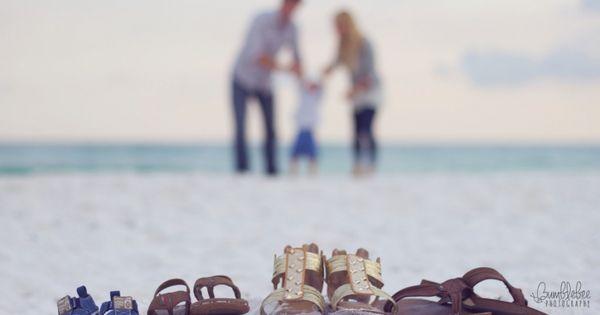 Pregnancy Announcement - Shoes - Beach Photography - Destin, FL - Bumblebee