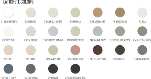 Color Chart Grout Colors Slate Grey Kitchen