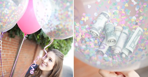 birthday, birthday gift, money balloons, creative gift, $ balloons, gift
