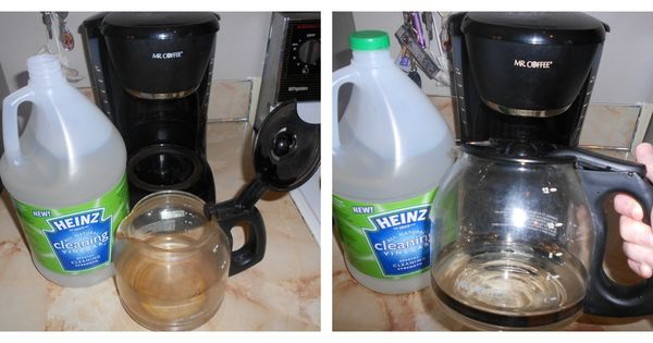 Cleaning Your Coffee Maker With Bleach : Heinz Cleaning Vinegar cleans your coffee pot @Popcorn and Pearls #HeinzVinegar #cBias Happy ...