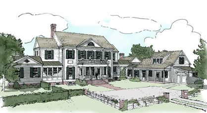 5 Bedroom House Plans A Large Home With A Guest Apartment Bedroom House Plans 5 Bedroom House Plans Southern House Plans