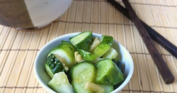 Sesame Ginger Pickles - 2 tablespoon rice vinegar 2 teaspoons sugar 1