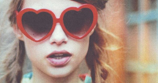 Heart Shaped Glasses- love the style
