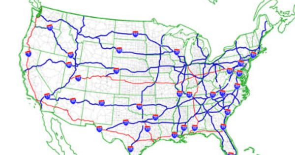 Usa Map Interstate Routes Usa Free Printable US Maps - Us interstate and freeway map