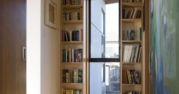 Screen House By Randy Bens Architect Book Shelves
